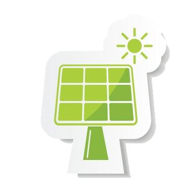 Green Solar Panel Icon